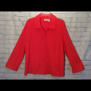 ChIco's Women's Jacket Size2 CoralButtons Pockets